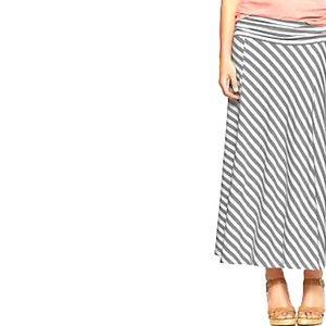 Gap Fold-Over Striped Maxi Skirt